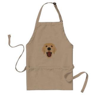 Illustration dogs face Golden Retriver Standard Apron