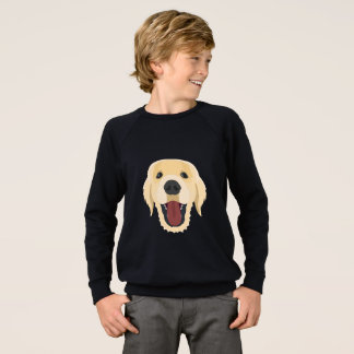 Illustration dogs face Golden Retriver Sweatshirt