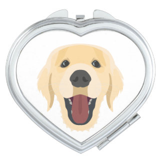 Illustration dogs face Golden Retriver Vanity Mirrors