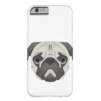 Illustration dogs face Pug Barely There iPhone 6 Case