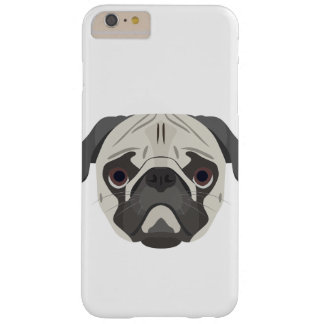 Illustration dogs face Pug Barely There iPhone 6 Plus Case