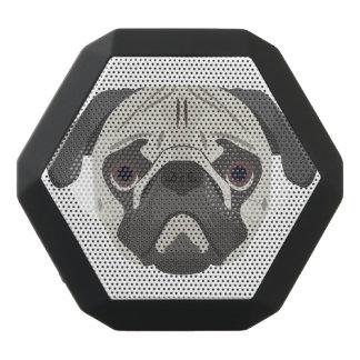 Illustration dogs face Pug Black Bluetooth Speaker