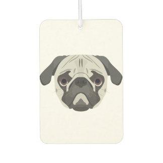 Illustration dogs face Pug Car Air Freshener