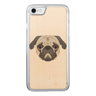 Illustration dogs face Pug Carved iPhone 8/7 Case