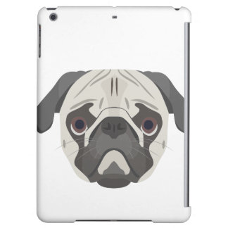 Illustration dogs face Pug Case For iPad Air