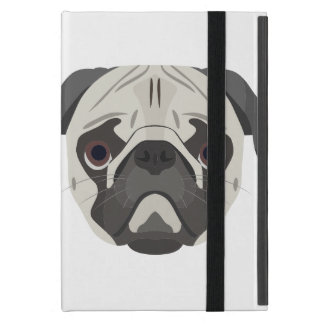 Illustration dogs face Pug Case For iPad Mini