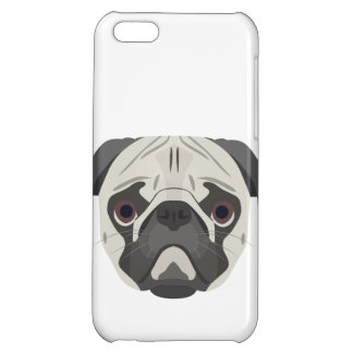 Illustration dogs face Pug Case For iPhone 5C