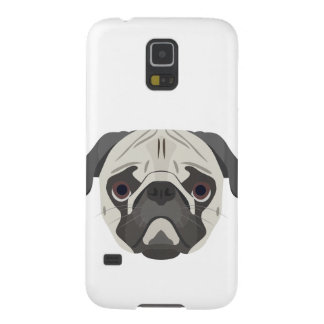 Illustration dogs face Pug Galaxy S5 Case