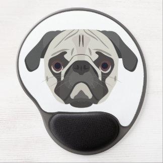 Illustration dogs face Pug Gel Mouse Pad