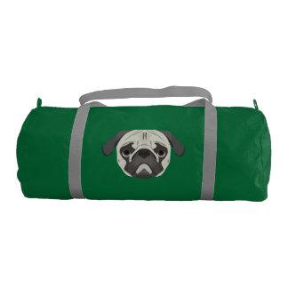 Illustration dogs face Pug Gym Bag