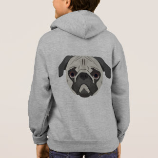 Illustration dogs face Pug Hoodie