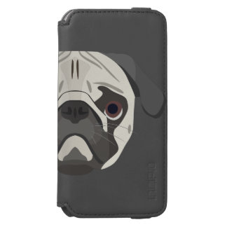 Illustration dogs face Pug Incipio Watson™ iPhone 6 Wallet Case