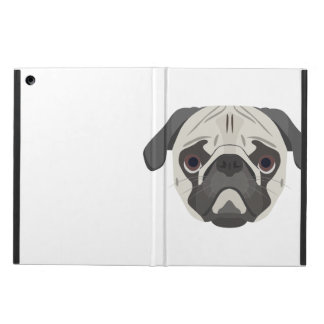 Illustration dogs face Pug iPad Air Case