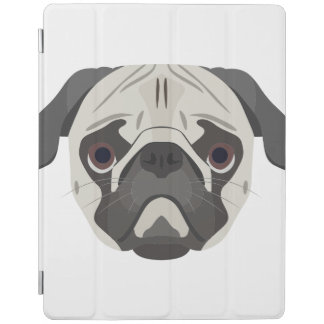 Illustration dogs face Pug iPad Cover