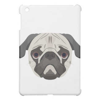 Illustration dogs face Pug iPad Mini Covers