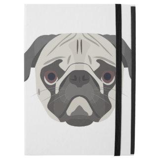 "Illustration dogs face Pug iPad Pro 12.9"" Case"