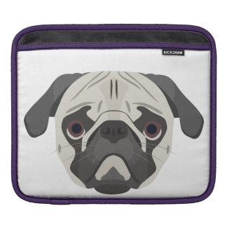 Illustration dogs face Pug iPad Sleeve