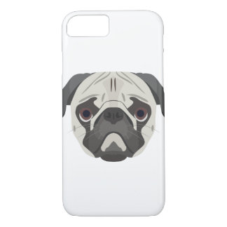 Illustration dogs face Pug iPhone 8/7 Case