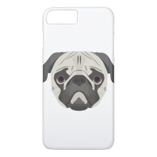 Illustration dogs face Pug iPhone 8 Plus/7 Plus Case
