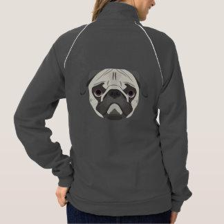 Illustration dogs face Pug Jacket