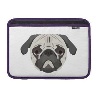 Illustration dogs face Pug MacBook Sleeve