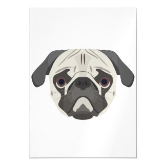 Illustration dogs face Pug Magnetic Card