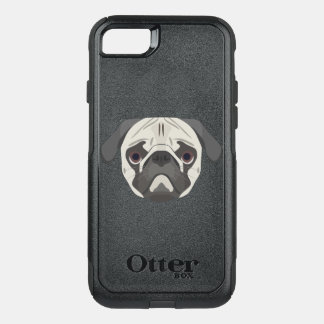 Illustration dogs face Pug OtterBox Commuter iPhone 8/7 Case