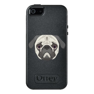 Illustration dogs face Pug OtterBox iPhone 5/5s/SE Case