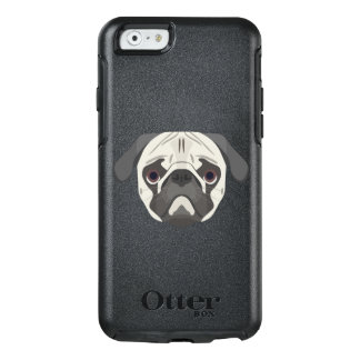 Illustration dogs face Pug OtterBox iPhone 6/6s Case