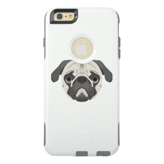 Illustration dogs face Pug OtterBox iPhone 6/6s Plus Case