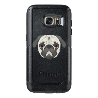 Illustration dogs face Pug OtterBox Samsung Galaxy S7 Case