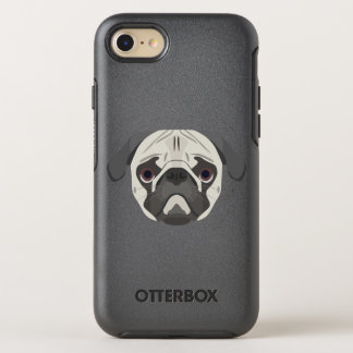 Illustration dogs face Pug OtterBox Symmetry iPhone 8/7 Case