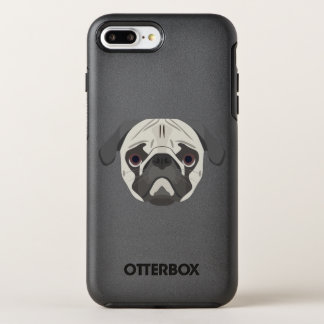 Illustration dogs face Pug OtterBox Symmetry iPhone 8 Plus/7 Plus Case