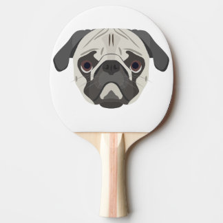 Illustration dogs face Pug Ping Pong Paddle
