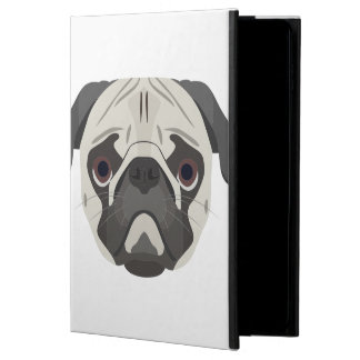 Illustration dogs face Pug Powis iPad Air 2 Case