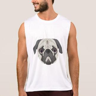 Illustration dogs face Pug Singlet