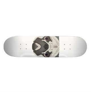 Illustration dogs face Pug Skateboard