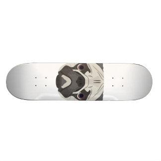 Illustration dogs face Pug Skateboard Deck