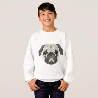 Illustration dogs face Pug Sweatshirt