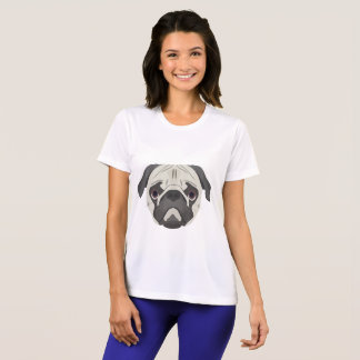 Illustration dogs face Pug T-Shirt