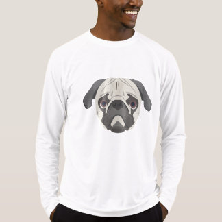 Illustration dogs face Pug T-Shirt