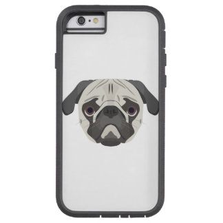 Illustration dogs face Pug Tough Xtreme iPhone 6 Case