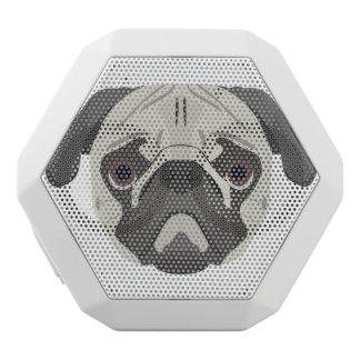Illustration dogs face Pug White Bluetooth Speaker