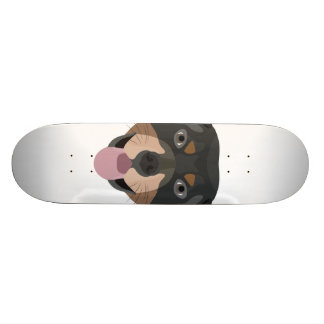Illustration dogs face Rottweiler Custom Skateboard