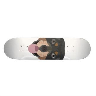 Illustration dogs face Rottweiler Skateboard Deck
