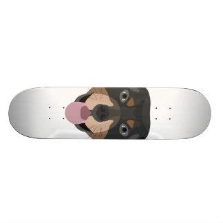 Illustration dogs face Rottweiler Skateboard Decks