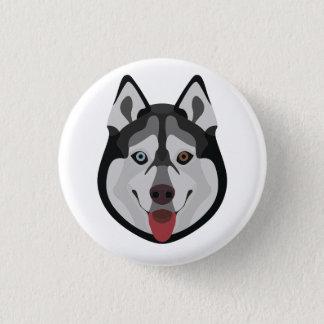 Illustration dogs face Siberian Husky 3 Cm Round Badge