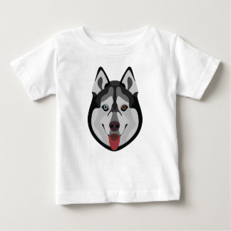 Illustration dogs face Siberian Husky Baby T-Shirt