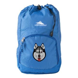 Illustration dogs face Siberian Husky Backpack