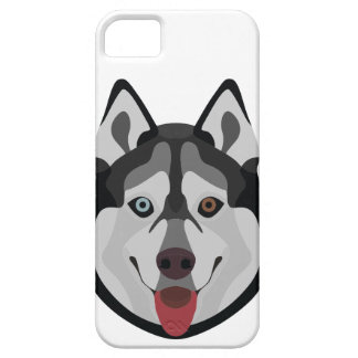 Illustration dogs face Siberian Husky Barely There iPhone 5 Case